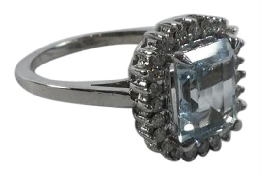 Preload https://img-static.tradesy.com/item/2922583/aquamarine-14kt-white-gold-diamond-engagement-cocktail-ring-0-2-540-540.jpg