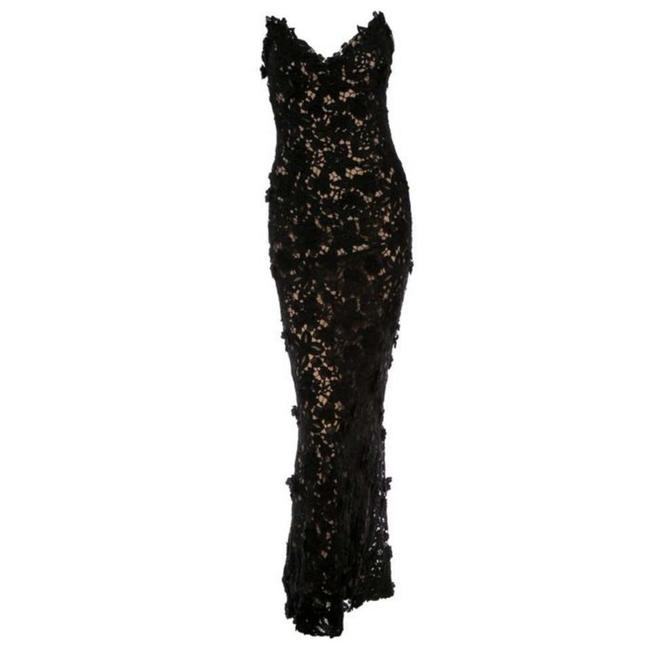 Item - Black Best Met Of All Time Lace Gown Long Night Out Dress Size 4 (S)