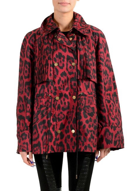 Item - Multi-color Women's Animal Print Double Breasted Trench Jacket Coat Size 4 (S)