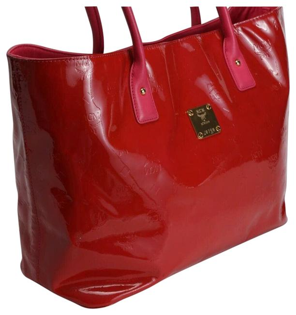 Item - Bag Patent Leather Large Red Tote