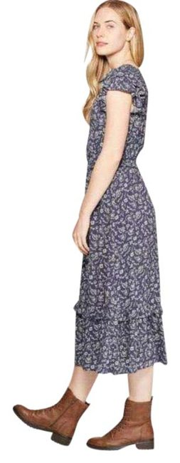 Item - Blue Universal Threads Floral Smocked Long Casual Maxi Dress Size 2 (XS)