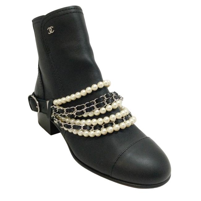 Item - Black Ankle with Removable Pearl / Chain Boots/Booties Size EU 38 (Approx. US 8) Regular (M, B)