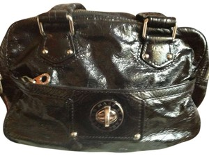 Marc by Marc Jacobs Satchel in BLACK PATENT