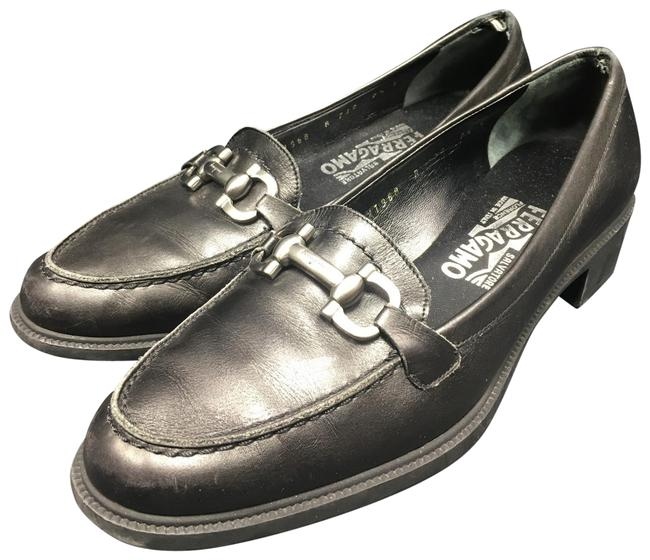 Item - Black Moccasin with Gancini Ornament Flats Size US 7.5 Wide (C, D)