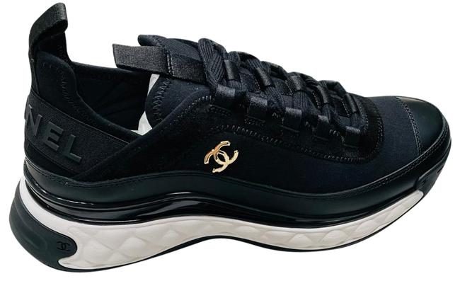 Item - Black and White 2021 Calfskin Runners Trainers Eur Sneakers Size EU 37.5 (Approx. US 7.5) Regular (M, B)