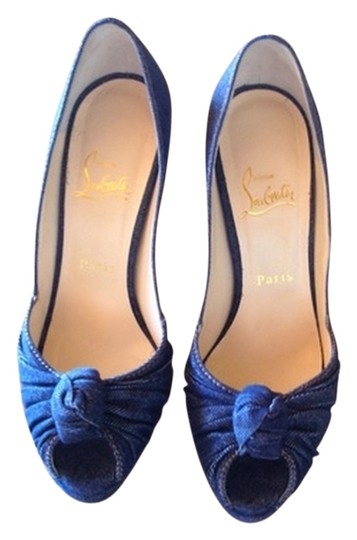 Christian Louboutin Denim Navy Pumps