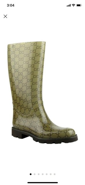 Item - Light Brown Rubber Rain with ssima Pattern 35g Boots/Booties Size US 5 Regular (M, B)