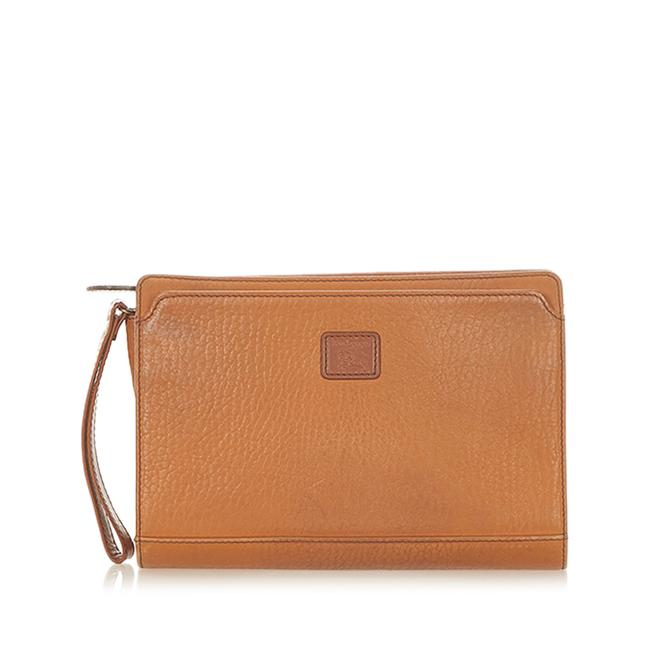 Item - Brown Leather Clutch