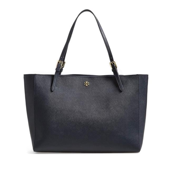 Item - York Buckle Navy Leather Tote