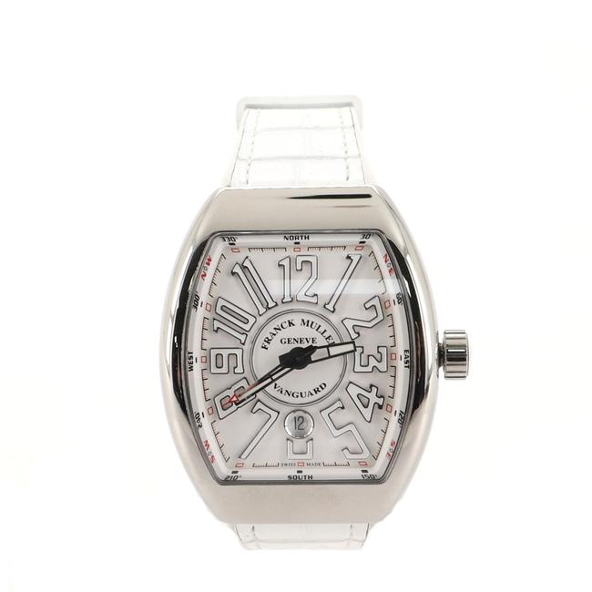 Item - White Vanguard Stainless Steel and Alligator with Rubber 44 Watch