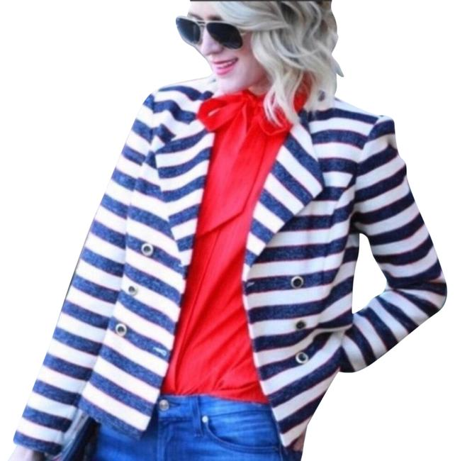 Item - Blue Cream Red Style 5094 Cruise Love Carol Collection Jacket Size 10 (M)