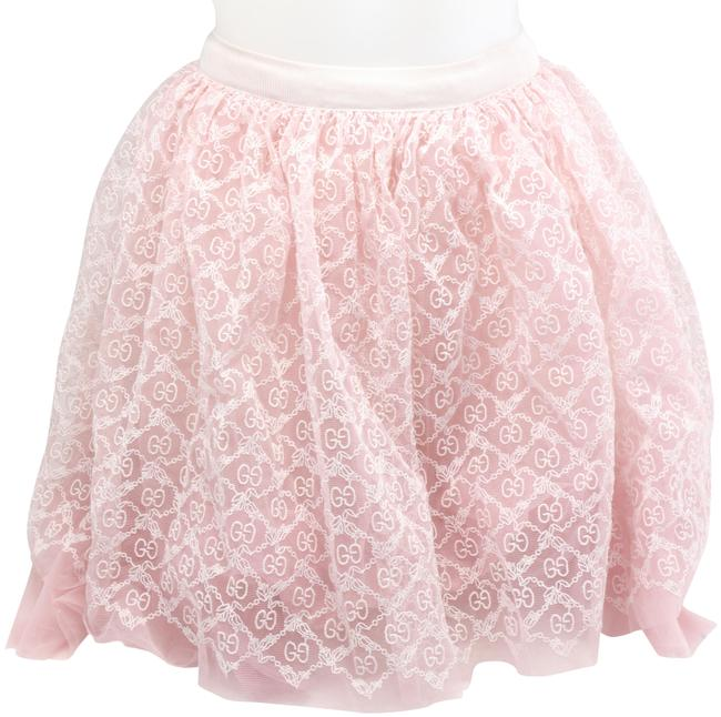 Item - Pale Pink Children's Tulle with Gg Garland Embroidery Skirt Size Petite 8 (M)