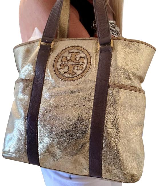 Item - Nordstrom Exclusive Anniversary Metallic Gold/Multi Leather Tote