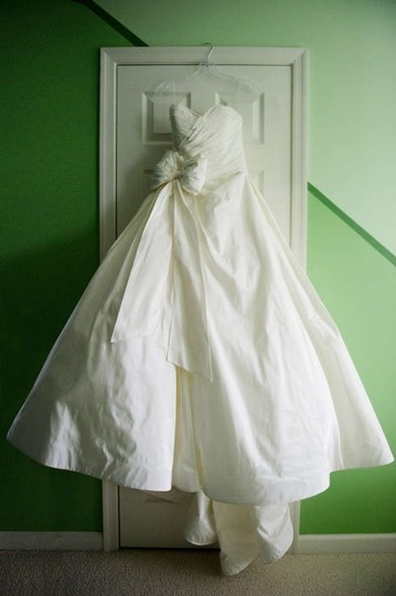 Priscilla of Boston Ivory Silk Taffeta Maeve Dress Size 4 (S)