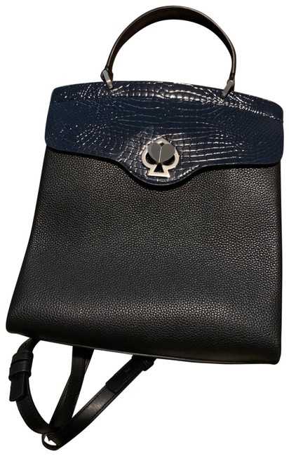 Item - Romy Black and Navy Leather Backpack