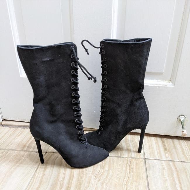 Item - Black Season 3 Onyx Suede Lace Up Boots/Booties Size US 8 Regular (M, B)