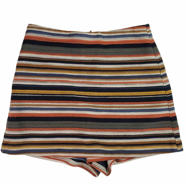 Item - Blue High Waisted Striped Shorts Size 4 (S, 27)