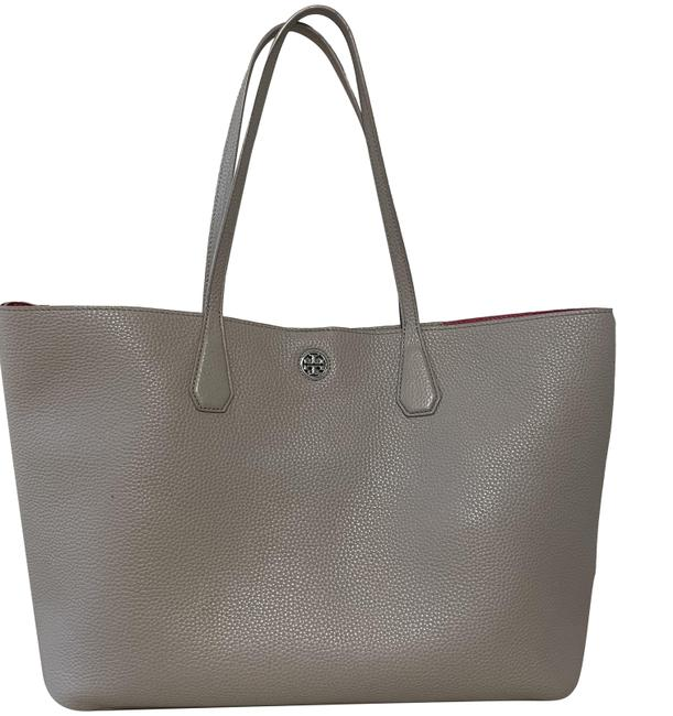 Item - Perry Grey Leather Tote