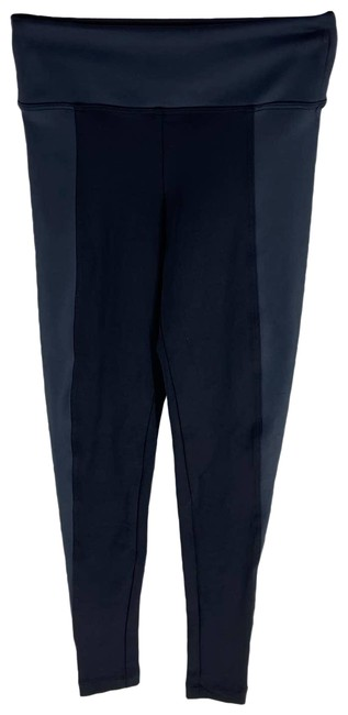 Item - Black With Navy Blue Band 7/8 Length Womens Xsmall Activewear Bottoms Size 0 (XS, 25)