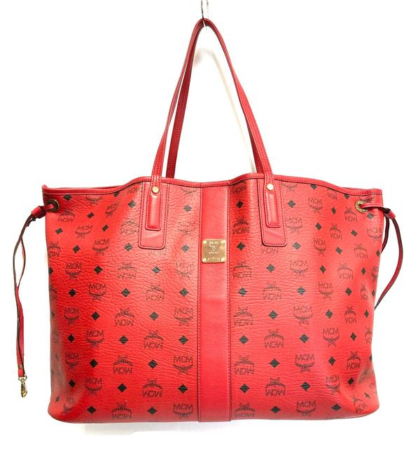 Item - Reversible Liz Large Shopper Red Leather Tote