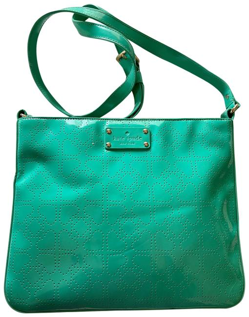 Item - Metro Darby Teal Patent Leather Cross Body Bag