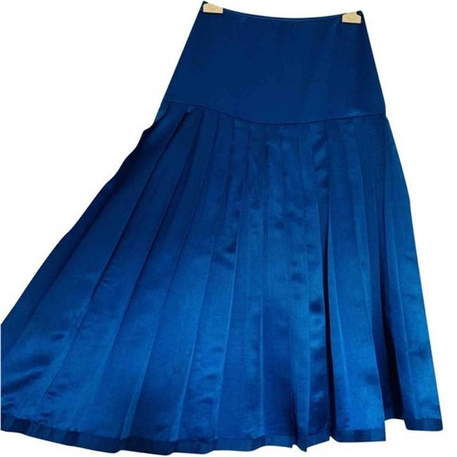 Item - Blue Silk Mid-length 36 Skirt Size OS (one size)