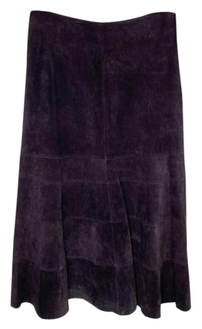 Item - Suede Genuine Leather High Waisted Purple Skirt Size 8 (M, 29, 30)