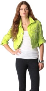 Elizabeth & James Lime green Womens Jean Jacket