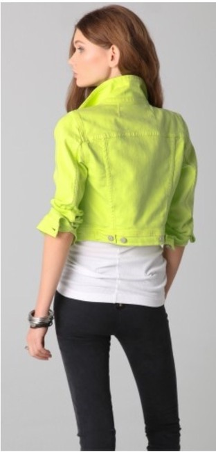 Elizabeth and James Lime green Womens Jean Jacket