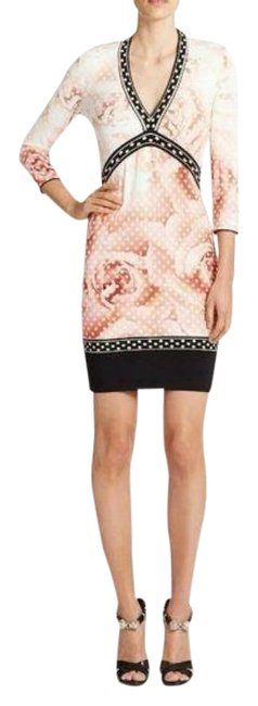 Item - Multicolor Jersey Abito Knitted Floral Short Night Out Dress Size 10 (M)