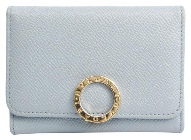 Item - Blue / Gray Leather Business Card Case Wallet