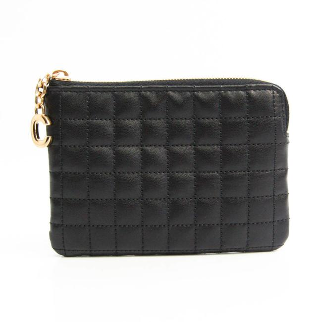 Item - Black Charm Card Case 10b823bfl Women's Leather Coin Purse/Coin Case Wallet
