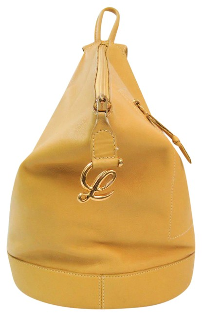 Item - Anton Women's Yellow Leather Backpack