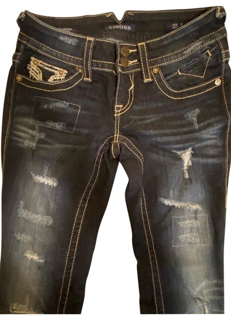 Item - Blue Distressed The Chelsea/Skinny Jeggings Size 0 (XS, 25)