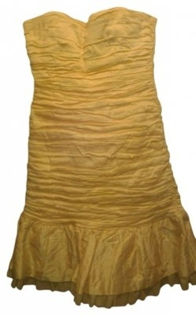 Preload https://item4.tradesy.com/images/bcbgmaxazria-yellow-mini-cocktail-dress-size-6-s-29233-0-0.jpg?width=400&height=650