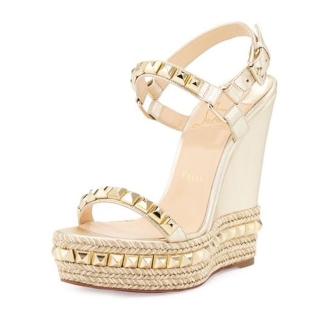 Item - Gold Red Cataclou Studded Leather Wedges Size EU 36 (Approx. US 6) Regular (M, B)