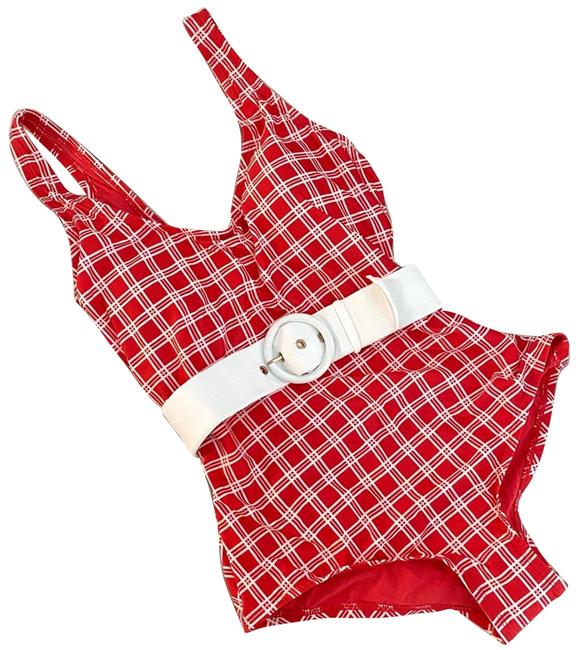 Item - Red New Belted Swimsuit One-piece Bathing Suit Size 8 (M)