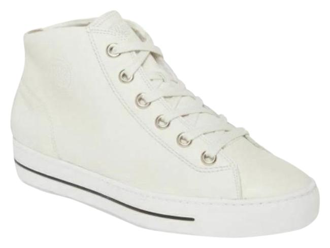 Item - White Bronte Off Leather Lace Up High Top Sneakers Size US 7 Regular (M, B)