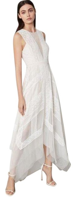 Item - White Cream Andi Off Lace Long Cocktail Dress Size 10 (M)