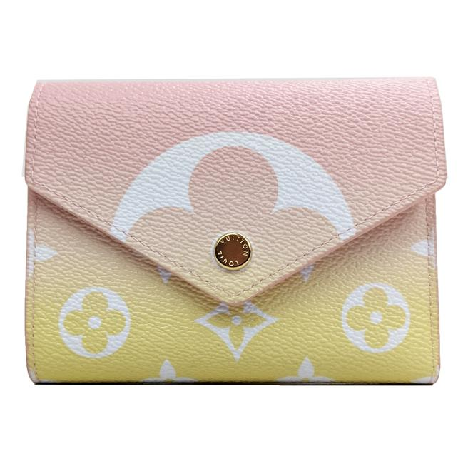 Item - Pink and Yellow Victorine By The Pool In Rose/Light Gradient Wallet