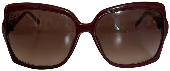 Item - Burgundy Oversized with Bamboo Arms Sunglasses