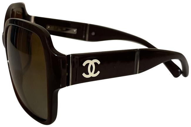 Item - Brown With Patent Leather Cc Arms Sunglasses