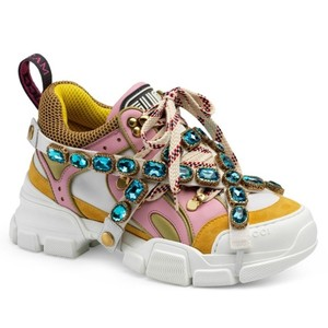 Gucci Sneakers Pink/yellow Athletic