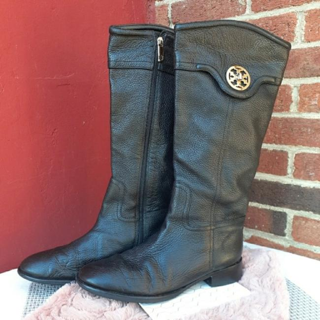 Item - Black with Gold Selma Riding Knee High Boots/Booties Size US 11 Regular (M, B)