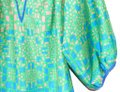 Collective Concepts Blue & Green Print Blouse Size 2 (XS) Collective Concepts Blue & Green Print Blouse Size 2 (XS) Image 3