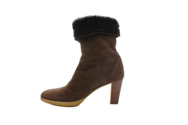 Item - Brown Suede Shearling Boots/Booties Size US 6 Regular (M, B)