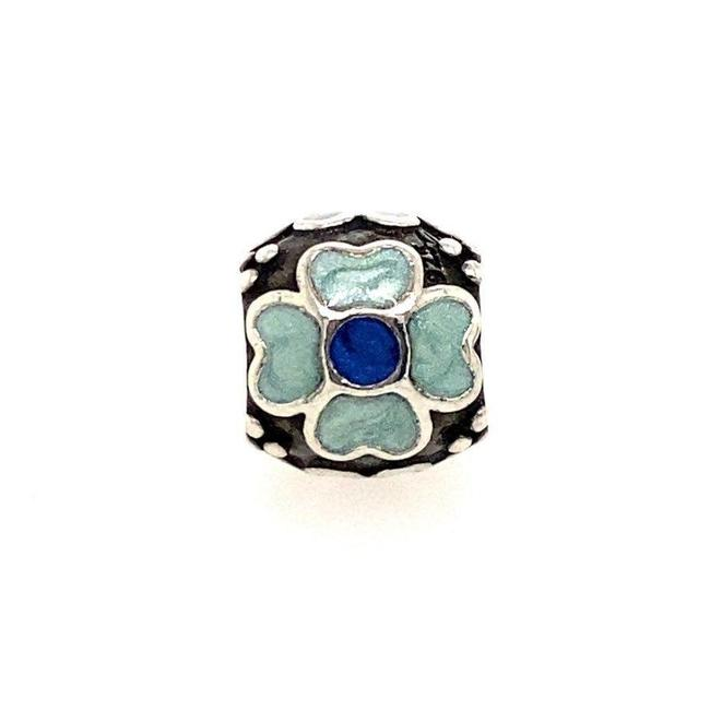 Item - Blue And Teal Flower Charm