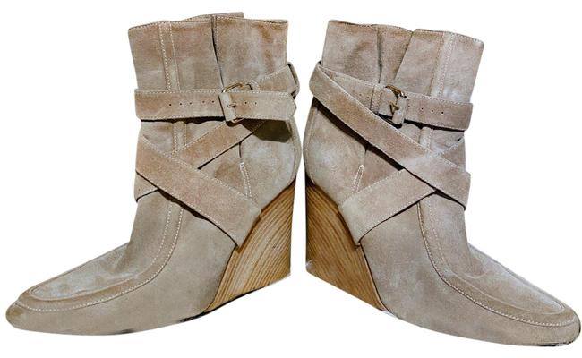 Item - Beige Paris Suede Wedge Ankle Boots/Booties Size EU 40 (Approx. US 10) Regular (M, B)