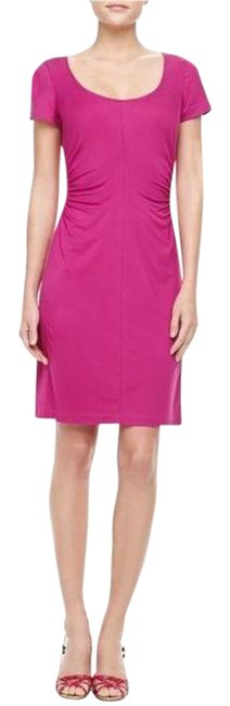 Item - Pink Bally Sleeve Ruched Short Work/Office Dress Size 0 (XS)