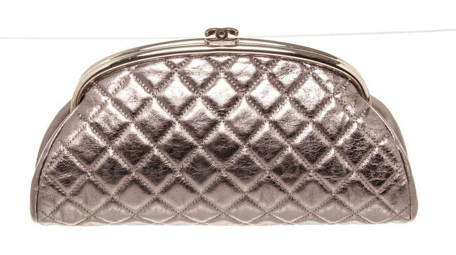 Item - Silver Patent Leather Clutch